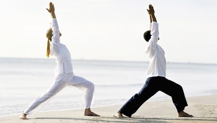 beachside yoga class haad chao samran